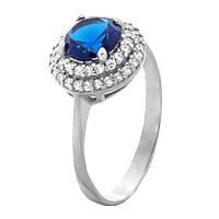 Кольцо Игрис синие 19,5 р. (серебро) (2256)