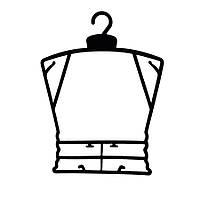 Пластиковая детская чёрная рамка вешалка ширина 30см для детской одежды