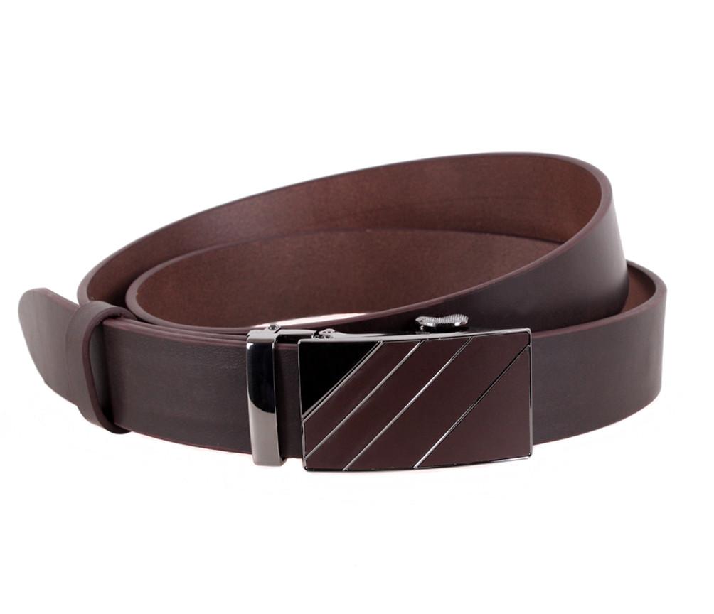 Мужской кожаный ремень Dovhani ALD666-28 115-125 см Коричневый