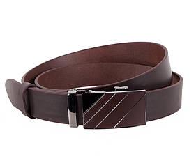 Мужской ремень из натуральной кожи под брюки ALD666-28 коричневый