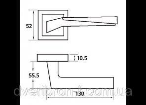 Ручка Z-1319 SN/CP, фото 2