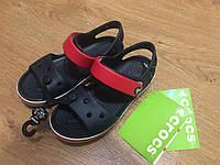Крокс босоножки детские Темно-синие с красныморигиналразные размеры Crocs Unisex Crocband Kids Sandals