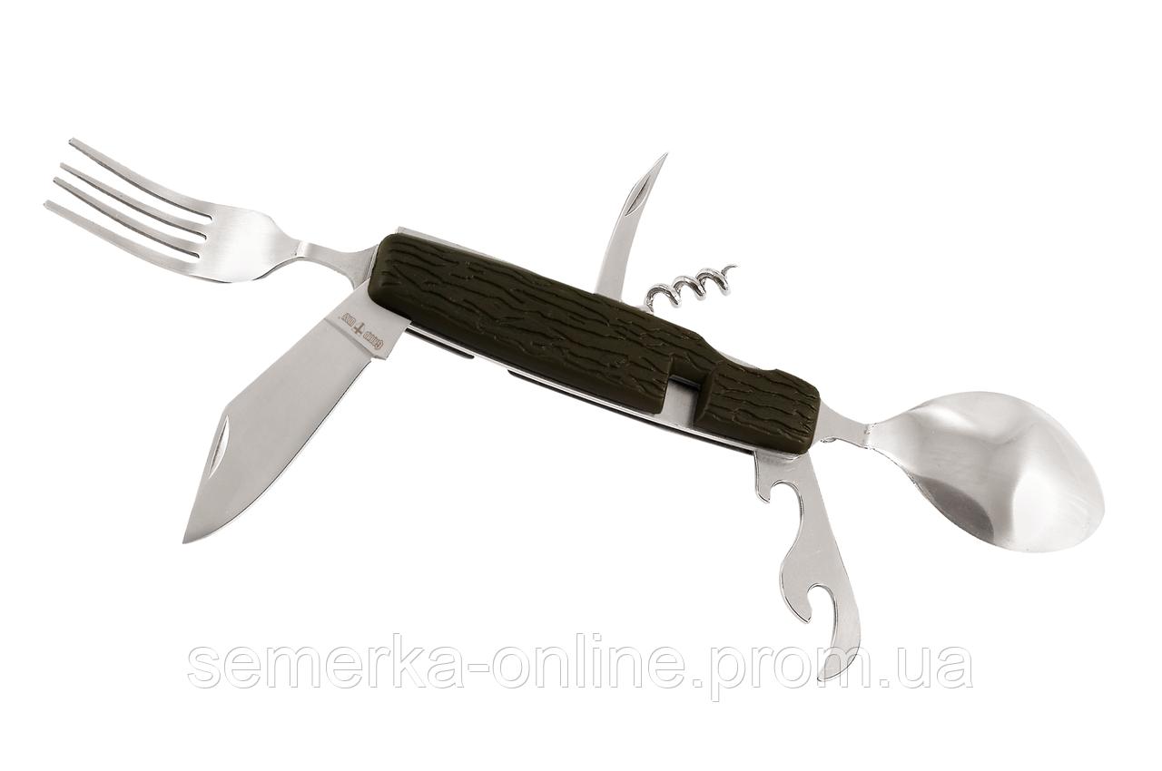 Нож GRAND WAY многофункциональный, мультитул, складной, туристический, 4 предмета