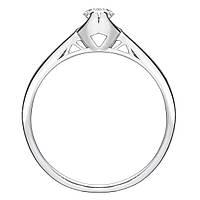 Золотое помолвочное кольцо с бриллиантом