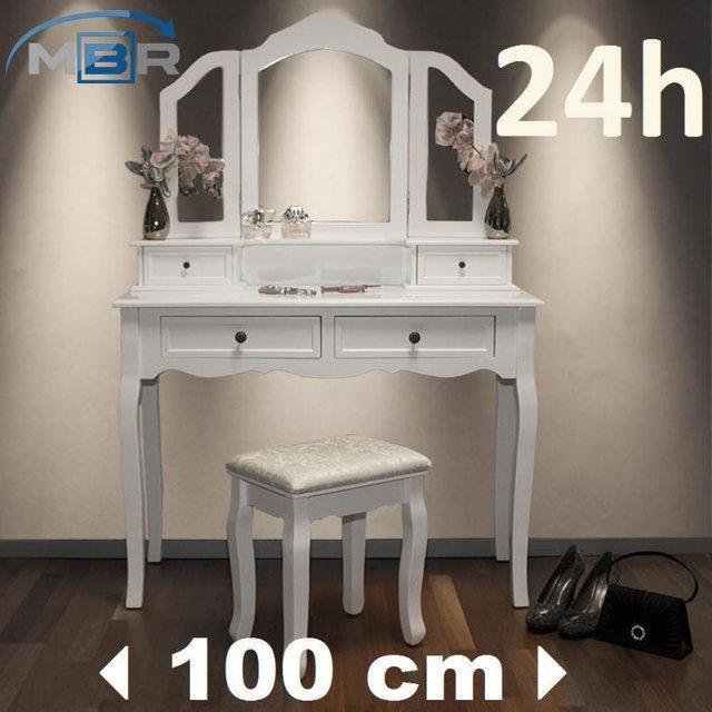 Туалетный столик Fiona 3 зеркала и табурет