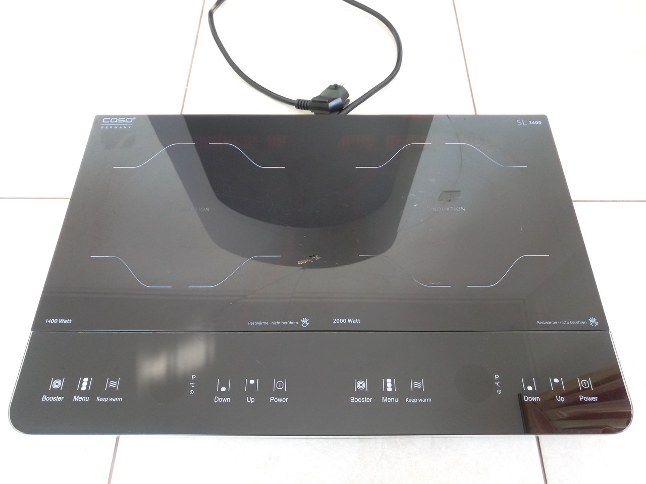 Двойная индукционная плита CASO SLIMLINE 3400