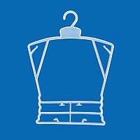 Пластиковая детская белая рамка вешалка ширина 30см для детской одежды