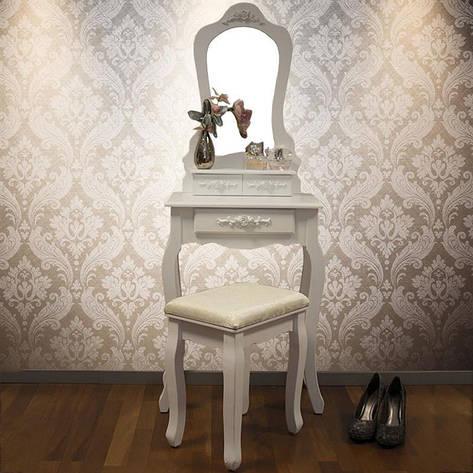 Туалетный столик Zosia с табуретом и зеркалом, фото 2