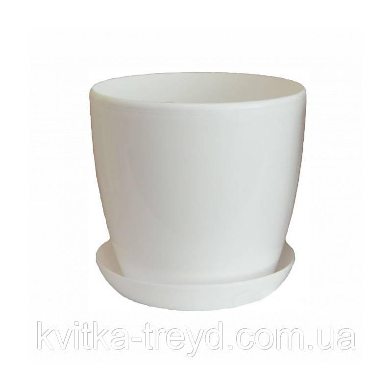 Цветочный горшок Глянец 3.3л Белый