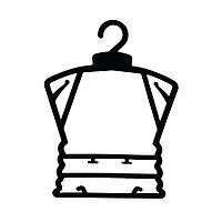 Детская чёрная пластмасовая рамка вешалка 23см плечики для одежды