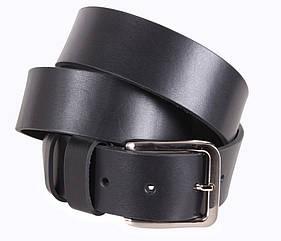 Мужской ремень из натуральной кожи под джинсы LD666-17 черный