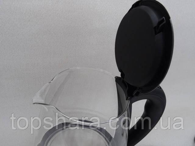 Электрочайник Domotec MS-8210 Black стеклянный, подсветка