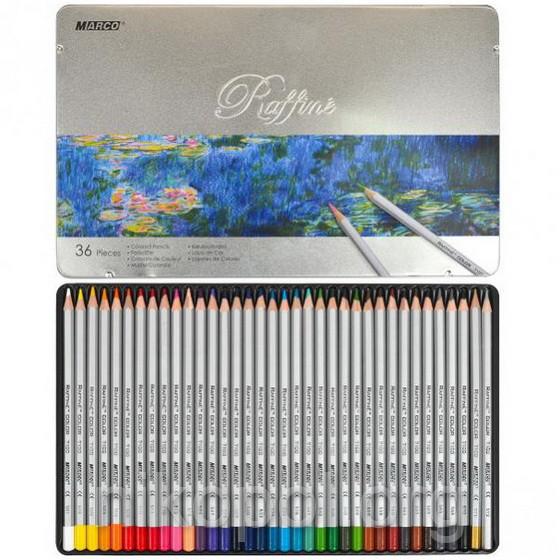 Набір кольорових олівців MARCO Raffine 7100-36TN, 36 кольорів