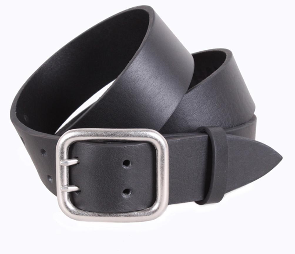 Мужской кожаный ремень Dovhani LD666-23 115-125 см Черный