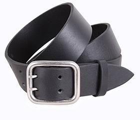 Мужской ремень из натуральной кожи под джинсы LD666-23 черный