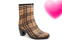 Женские резиновые ботиночки на каблучке разные цвета Uk0140