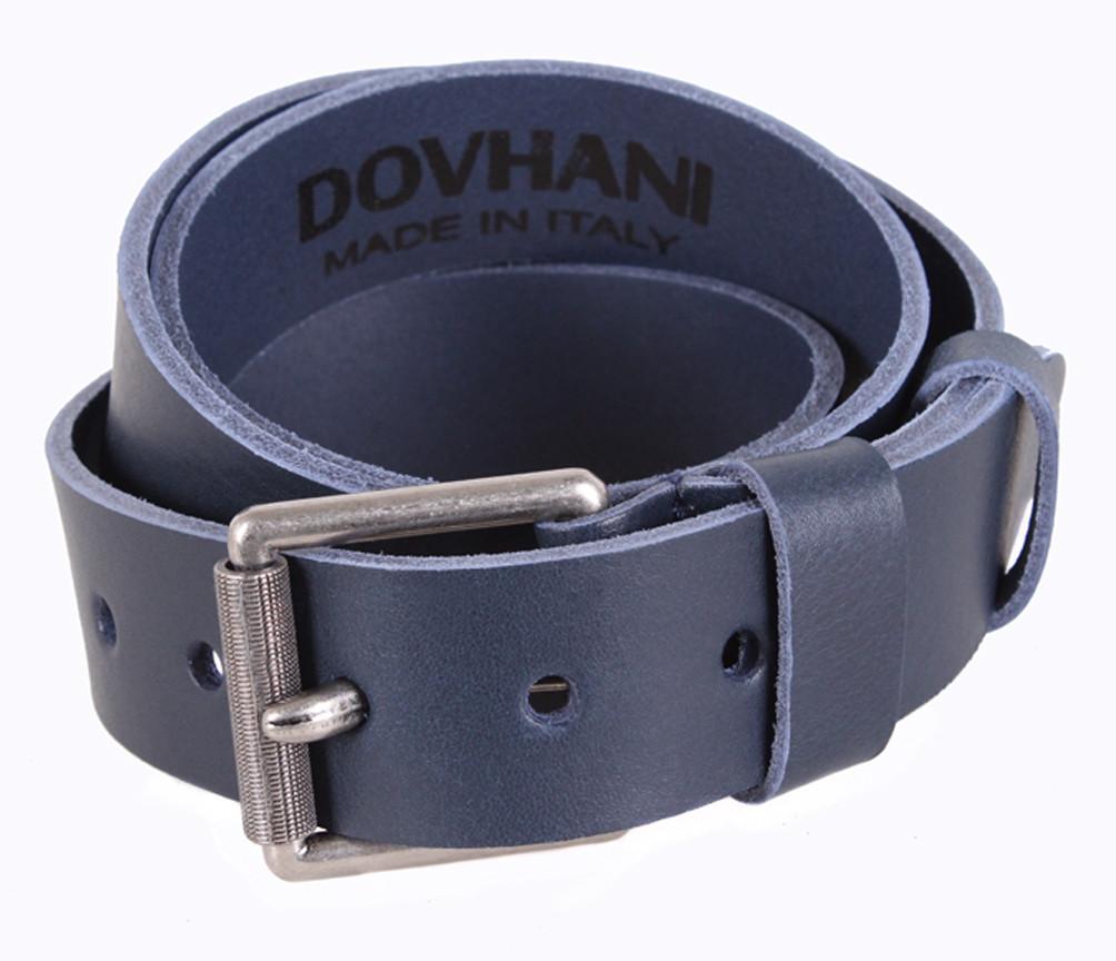 Мужской кожаный ремень Dovhani LD666-24 115-125 см Синий