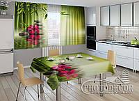 """Фото комплект для кухни """"Листья бамбука"""""""