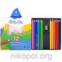 Набор цветных карандашей MARCO Colorite 1450-12CB, 12 цветов, толстые