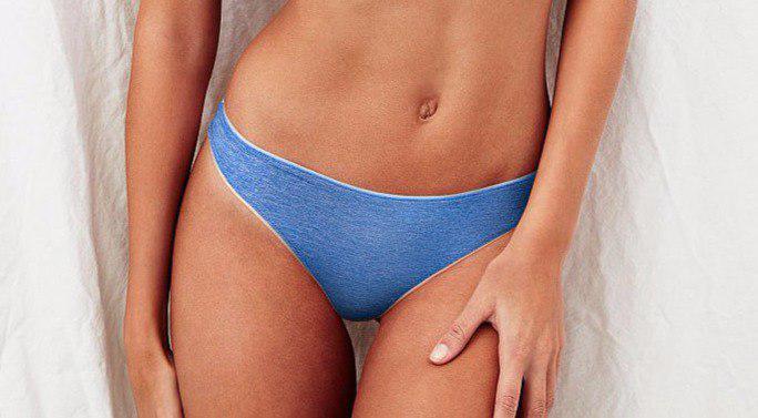 Трусики-стринги Victoria's Secret голубые