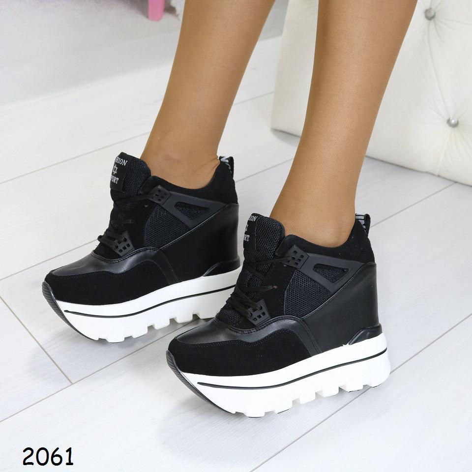 Кроссовки женские высокие на танкетке  640 грн. - Спортивная обувь ... 433bda3fb8b