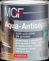 Лессирующая пропитка для дерева Aqua Antiseptik белая ТМ MGF (МГФ) (10 л)