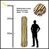 Бамбуковый ствол, опора L 2,1м. диам. 10-12мм.