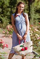 Льняное платье полоска