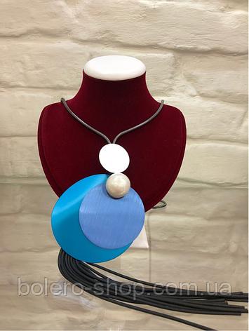 Женская брендовая бижутерия подвеска каучук и метал Италия, фото 2