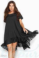 Шелковое платье oversize
