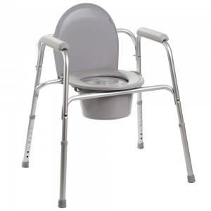 Алюминиевый стул-туалет 3в1