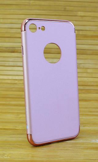 Пластиковый чехол на Айфон, iPhone 7 FSHANG Seven Send розовый