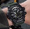 Мужские спортивные часы Sanda 759 Army green/Black диам 55 мм, фото 2