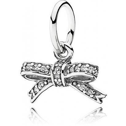 Серебряная подвеска «Бантик» в стиле Pandora