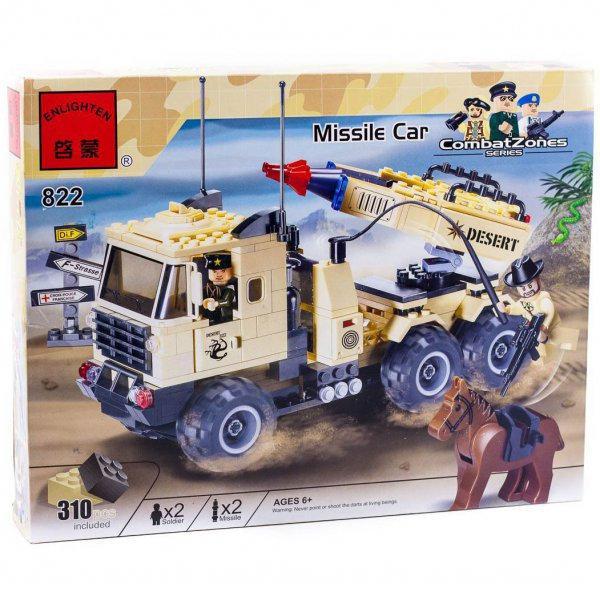 """Конструктор Brick 822 """"Ракетная установка"""" Missile Car из серии Combat Zones, 310 деталей ."""
