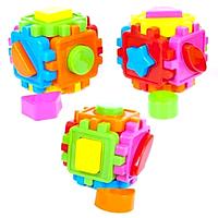 """Логический куб """"Учим формы и цвета"""", развивающий сортер с фигурками"""