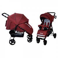 Коляска прогулочная CARRELLO Strada CRL-7305 Dark red резиновые колеса