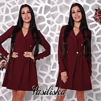 Стильное платье-плащ ан-02764-5, фото 1