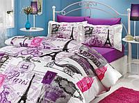 Комплект постельного белья 200х220 HOBBY Poplin Vicenta сиреневый 10533_2,0
