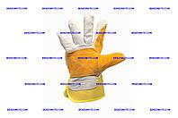 """Перчатки Mastertool - замшевые комбинированные, усиленная ладонь 10,5"""" желтые"""