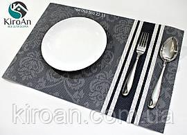 Сервировочные коврики для защиты стола темно-синие 30х45см (N24004)