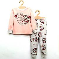 Детская пижама с котиками для девочки р.104,110