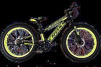 Фэтбайк (FatBike) велосипед Cross Tank 24″ (Black-Lime)