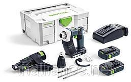 Аккумуляторный строительный шуруповёрт DURADRIVE DWC 18-2500 Li 3,1-Compact Festool 574911