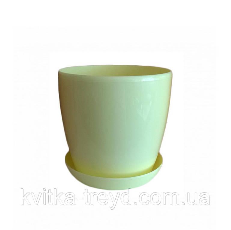 Квітковий горщик Глянець 0.8 л Жовто-Кремовий