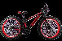Фэтбайк (FatBike) велосипед Cross Tank 26″ (Black-Red)