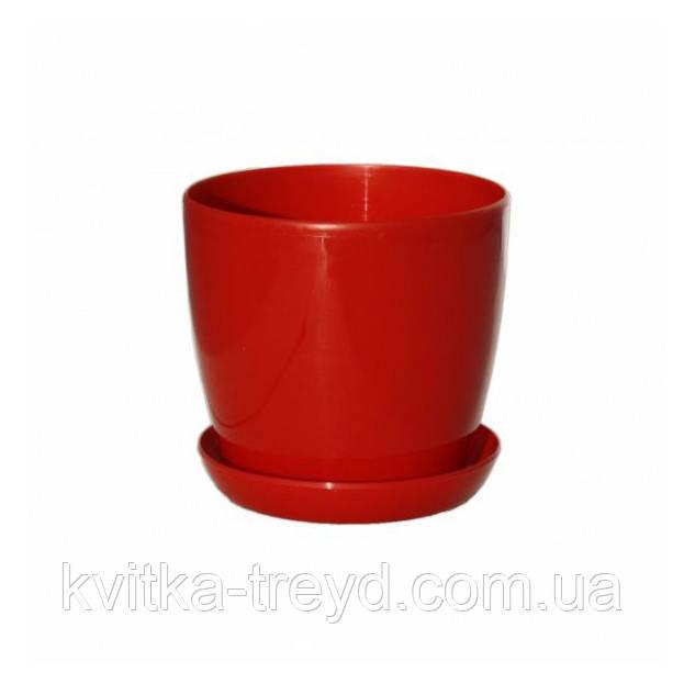 Цветочный горшок Глянец 0.8л Красный