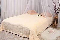 Покрывало одеяло меховое с большим ворсом 200х230 Яркий персик