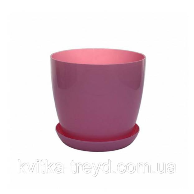 Цветочный горшок Глянец 0.8л Розовый