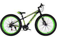 Фэтбайк (FatBike) велосипед Cross Tank 26″ (Black-Green), фото 1